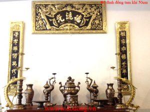 bàn thờ cúng gia tiên trang trí đồng tam khí đẹp