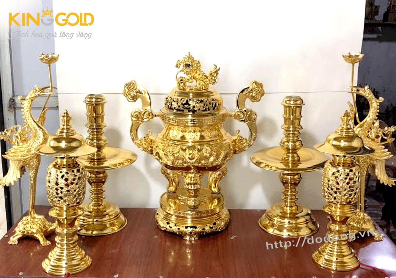 Bộ đỉnh đồng thờ cúng thường dùng   Đỉnh đồng phú quý